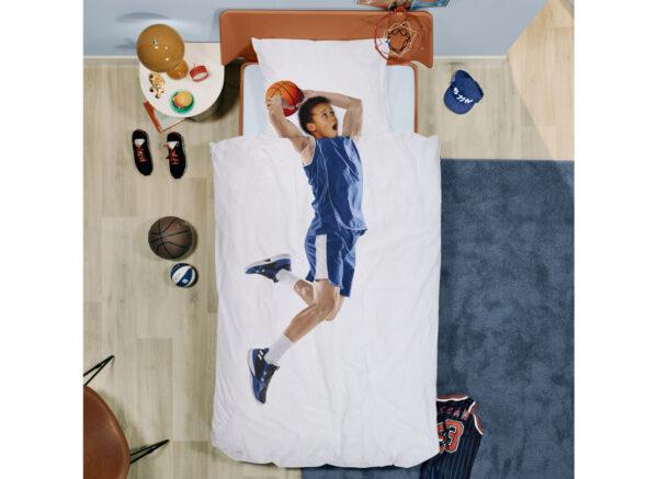 Snurk dekbedovertrek Basketball Star blue