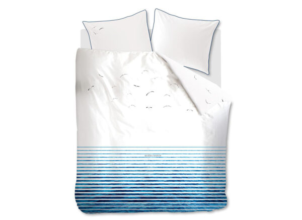 Riviera Maison dekbedovertrek Seagull blue