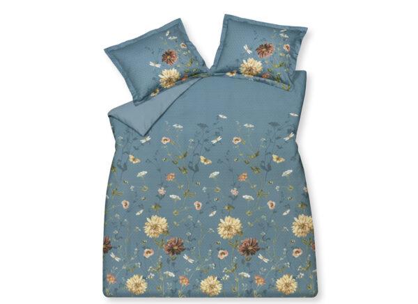 Vandyck dekbedovertrek Wild Flower storm blue