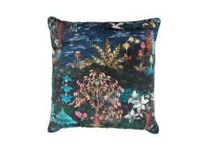 Pip Studio quilted sierkussen Garden dark blue 45×45